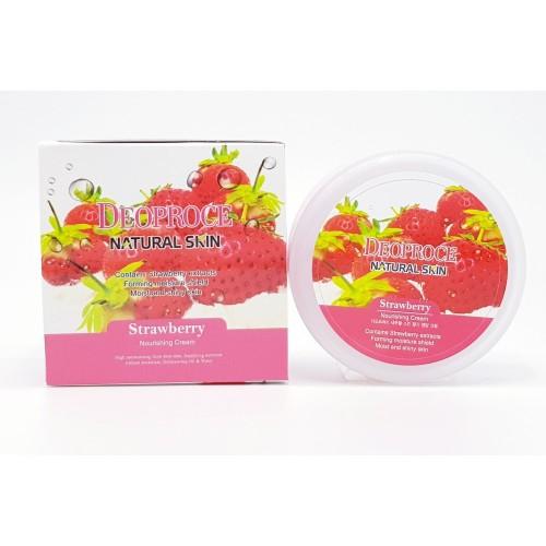Крем для лица и тела Deoproce Natural Skin Strawberry Nourishing Cream, 100 гр.