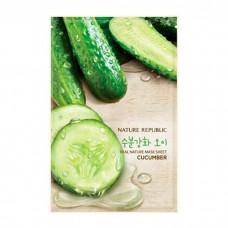 Тканевая маска для лица Nature Republic Real Nature Cucumber Mask Sheet, 20 мл.