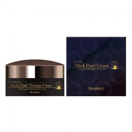 Антивозрастной крем для лица Deoproce Black Pearl Therapy Cream с черным жемчугом, 100 гр.