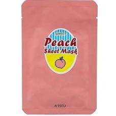 Персиковая маска для лица A'Pieu Peach & Yogurt Sheet Mask, 23 мл