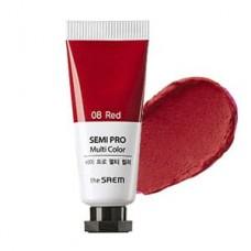 Универсальный цветной пигмент The Saem Semi Pro Multi Color 08 Red, 5 мл.