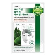 Тканевая маска для лица Mijin Junico Crystal All-in-one Facial Mask Aloe с экстрактом алоэ, 25 гр.