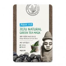 Маска для лица успокаивающая Jeju Nature's Green Tea Mask, 20 мл