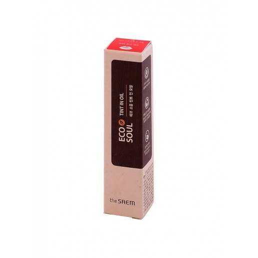 Минеральный тинт для губ The Saem Eco Soul Mineral Tint In Oil RD01 That's Red, 4 гр.