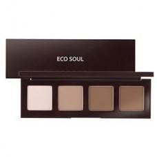Палетка для контурного макияжа The Saem Eco Soul Contour Palette, 0.2 гр.*4