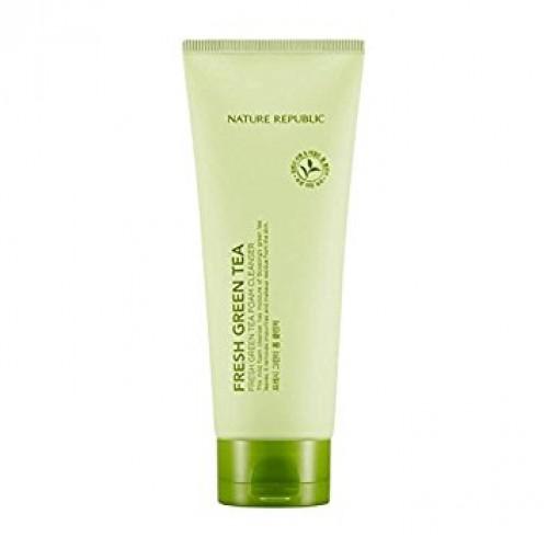 Овежающая пенка для умывания Nature Republic Fresh Green Tea Foam Cleanser с экстрактом зеленого чая, 150 мл