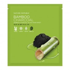 Тканевая маска для лица Nature Republic Bamboo Charcoal Black Mask Sheet, бамбук и древесный уголь, 27 мл.