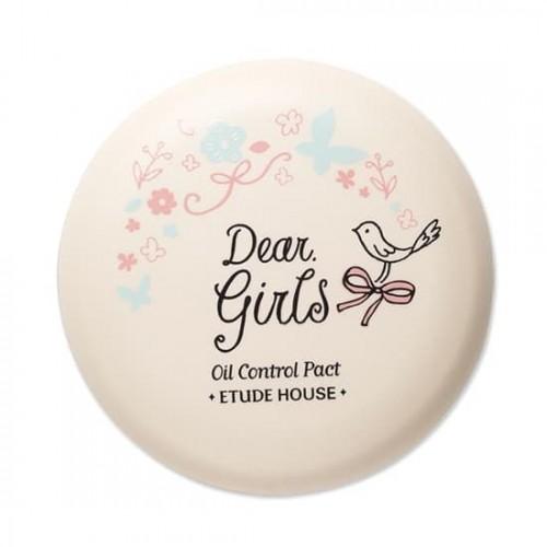 Компактная пудра Etude House Dear Girls Oil Control Pact AD, 8 гр.
