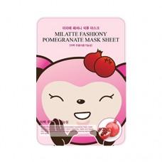 Тканевая маска для лица Milatte Fashiony Pomegranate Mask Sheet с экстрактом граната