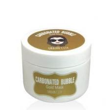 Пенно-глиняная маска для лица Urban City Carbonated Bubble Gold Mask с золотом, 100 мл