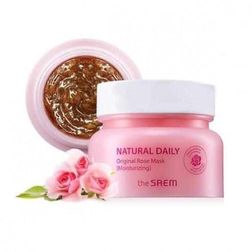 Маска для лица The Saem Natural Daily Original Rose Mask с лепестками роз, 100 гр.