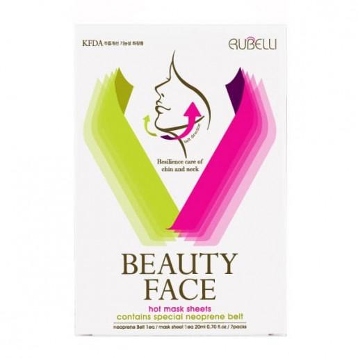 Набор масок для подтяжки контура лица Rubelli Beauty Face с бандажом, 7 шт.