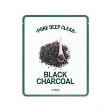 Глубокоочищающая маска для лица A'Pieu Pore Deep Clear Black Charcoal Mask, 25 мл