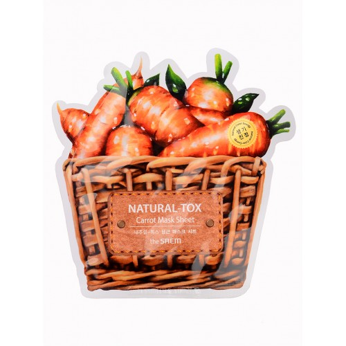 Тканевая маска для лица The Saem Natural-tox Carrot Mask Sheet с экстрактом моркови, 20 гр.