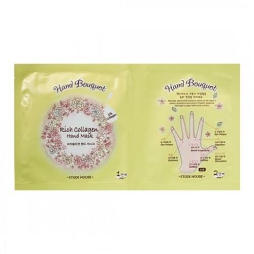 Тканевая маска для рук Etude House Hand Bouquet Rich Collagen Hand Mask, 16 гр.