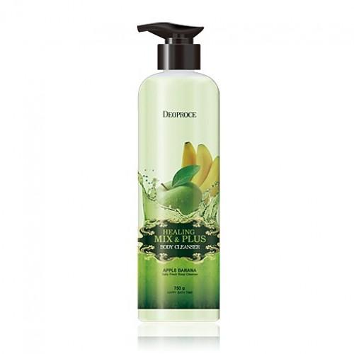 Гель для душа Deoproce Healing Mix & Plus Body Cleanser Apple Banana, яблочно-банановый, 750 гр.