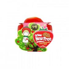 Маска для лица от расширенных пор Urban Dollkiss New Tree Strawberry All-In-One Pore Pack, 100 гр.