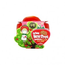 Маска для лица от расширенных пор Urban Dollkiss New Tree Strawberry All-In-One Pore Pack, 100 гр.