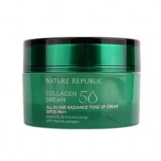 Крем для лица Nature Republic Collagen Dream 50 All in One Radiance Tone Up Cream с коллагеном, 50 мл