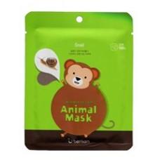 Тканевая маска для лица Berrisom Animal Mask Series Monkey с муцином улитки, 25 мл