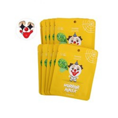 Тканевая маска для лица Berrisom Horror Mask Series Pierrot с экстрактом зеленого чая, 25 мл