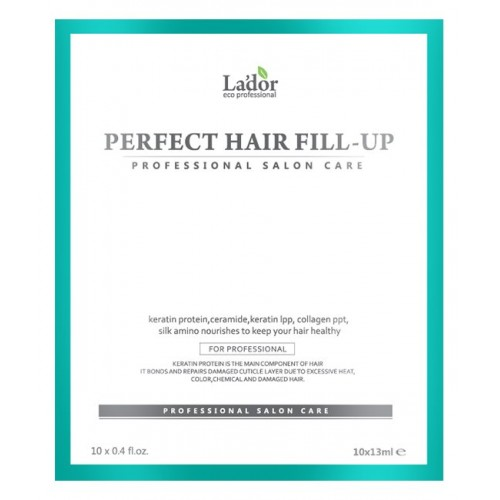 Филлер для восстановления волос La'dor Perfect Hair Filler, 10 шт. по 13 мл
