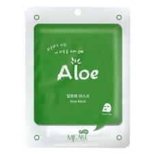 Тканевая маска для лица MJ Care On Aloe Mask Pack с экстрактом алоэ, 22 гр.