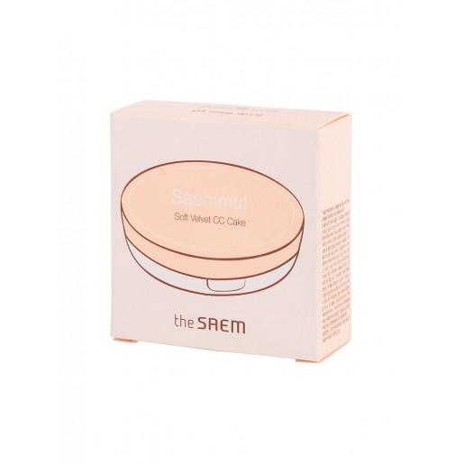 Крем-пудра The Saem Saemmul Soft Velvet CC Cake 01 Light Beige, 20 гр.