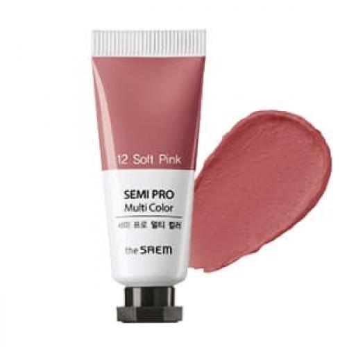 Универсальный цветной пигмент The Saem Semi Pro Multi Color 12 Soft Pink, 5 мл