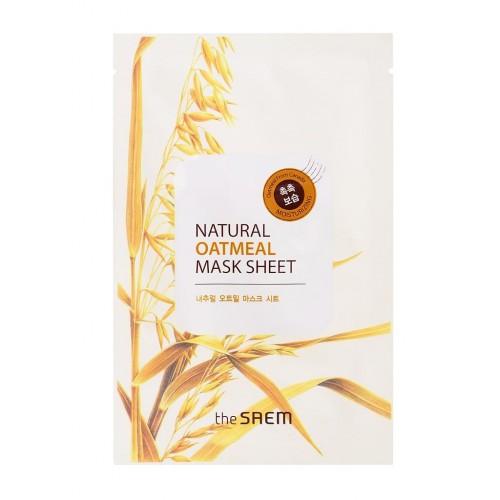 Тканевая маска для лица The Saem Natural Oatmeal Mask Sheet с экстрактом овсянки, 21 мл