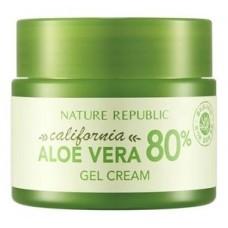 Освежающий гель-крем для лица Nature Republic California Aloe Vera 80% Gel Cream из калифорнийского алоэ, 50 мл