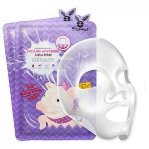 Омолаживающая маска из биоцеллюлозы Elizavecca Milky Piggy Bio Cling Whitening Aqua Mask, 25 мл