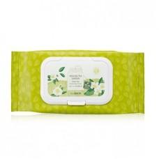 Салфетки очищающие The Saem Healing Tea Garden Green Tea Cleansing Tissue с экстрактом зеленого чая, 60 шт.