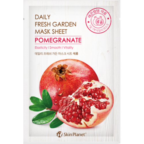 Тканевая маска для лица Mijin Skin Planet Daily Fresh Garden Mask Sheet Pomegranate с гранатом, 25 гр.