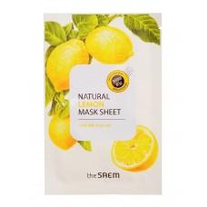Тканевая маска для лица The Saem Natural Lemon Mask Sheet с экстрактом лимона, 21 мл