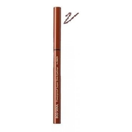 Подводка для глаз тонкая The Saem Eco Soul Powerproof Super Slim Eyeliner BR02, 0,1 гр.
