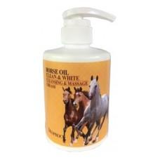 Крем для тела массажный очищающий с лошадиным жиром deoproce horse oil clean & white cleansing & massage cream, 450 мл.