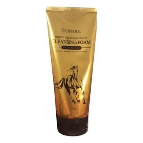 Пенка для умывания Deoproce Horse Oil Hyalurone Cleansing Foam с гиалуроновой кислотой и лошадиным жиром, 170 гр.