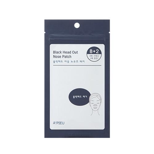 Очищающие патчи для носа A'Pieu Blackhead Out Nose Patch Set, 10 шт.