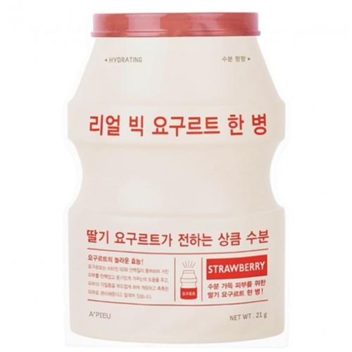 Маска для лица A'Pieu Real Big Yogurt One-Bottle Strawberry, с экстрактом клубники, 21 гр.