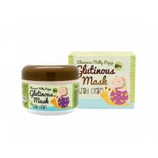 Крем-маска Elizavecca Milky Piggy Glutinous Mask 80% Snail Cream с муцином улитки, 100 мл