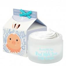 Осветляющий крем для лица и тела Elizavecca Real White Time Milk Cream с козьим молоком, 100 мл