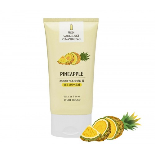Очищающая пенка Etude House Fresh Squeeze Juice Cleansing Foam Pineapple с соком ананаса, 150 мл