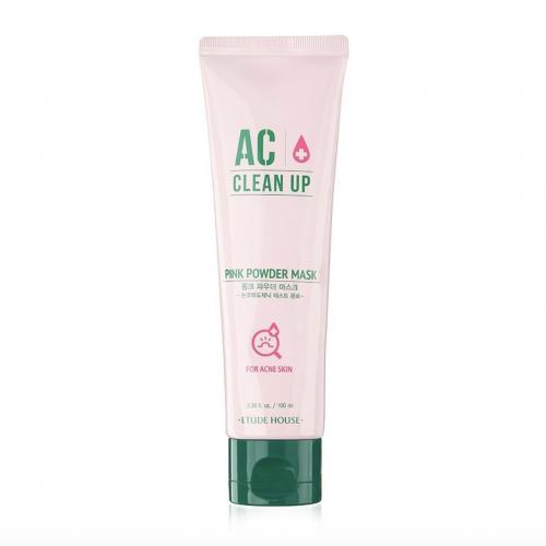 Маска с розовой глиной для проблемной кожи Etude House AC Clean Up Pink Powder Mask, 100 мл