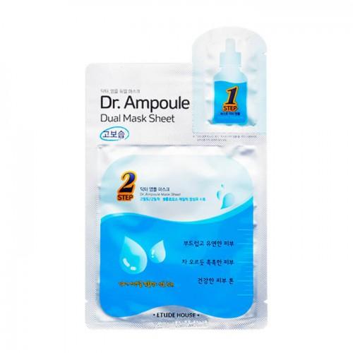 Увлажняющая двухфазная маска для лица Etude House Dr. Ampoule Dual Mask Sheet Essential Care,  24+2 мл