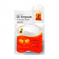 Восстанавливающая двухфазная маска для лица Etude House Dr. Ampoule Dual Mask Sheet Vital Care, 24+2 мл