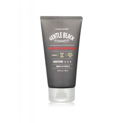 Пенка для умывания Etude House Gentle Black One Shot Cleansing Foam  для мужской кожи, 150 мл