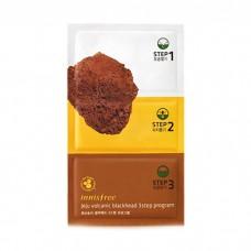Трехступенчатый набор патчей для очищения кожи Innisfree Jeju Volcanic Blackhead 3 Step Program, 3*3 гр.