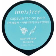 Капсульная маска Innisfree Capsule Recipe Pack Jeju Bija & Tea Tree с маслом чайного дерева, 10 мл