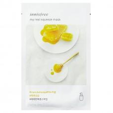 Маска для лица Innisfree My Real Squeeze Mask Manuka Honey с экстрактом мёда, 20 мл